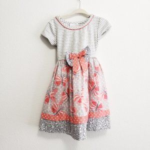 Iris & Ivy Butterfly Bow Dress, 2T, NWT